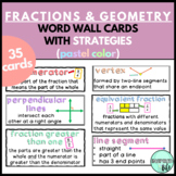 Math Word Wall 3rd Grade (Common Core Aligned) - Fractions