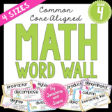 Math Word Wall (4th Grade)