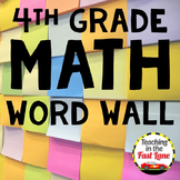 Math Word Wall 4th Grade