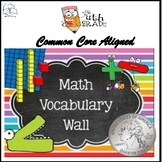 Math Word Wall 4th Grade BUNDLE