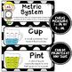 Math Word Wall Cards (4th Grade - Black & White)