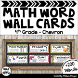 Math Word Wall Editable (4th Grade - Chevron)