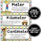 Math Word Wall Cards (4th Grade - Rainbow Colors)