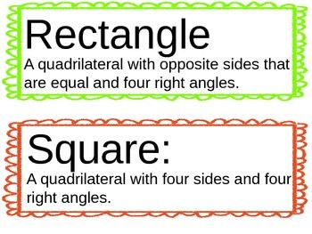 Math Word Wall - 4th Grade (Editable)