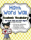 Math Word Wall - 4th Grade TEKS/CCSS Aligned