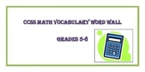 Math Word Wall 5th-8th Grade Bundle Common Core Academic V