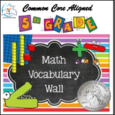 Math Word Wall 5th Grade BUNDLE
