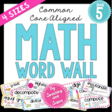 Math Word Wall (5th Grade)