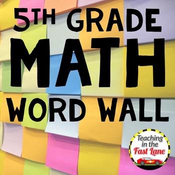 Math Word Wall 5th Grade