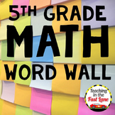 Math Word Wall 5th Grade