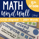 Math Word Wall {5th Grade}