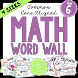 Math Word Wall (6th Grade)