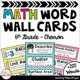 Math Word Wall Editable (6th Grade - Chevron)