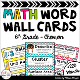 Math Word Wall Editable (6th Grade - Chevron)