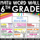 Math Word Wall 6th Grade (Common Core Aligned)