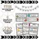 Math Word Wall 6th Grade - Editable - Shiplap