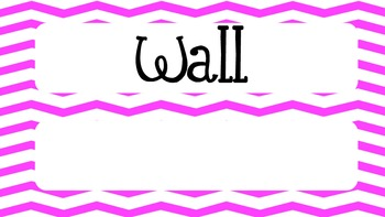 Math Word Wall 6th grade Common Core Aligned CCSS with Chevron Headers