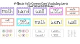 Math Word Wall 6th grade Common Core Aligned CCSS with Che