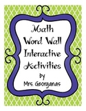 Math Word Wall Activities