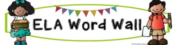 Math & ELA Word Wall Banners - No Backgrounds