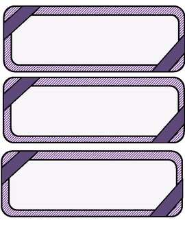 Math Word Wall Blank Cards