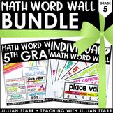 Math Word Wall Bundle 5th Grade