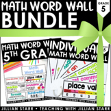 Math Word Wall Bundle 5th Grade