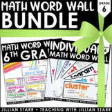 Math Word Wall Bundle 6th Grade