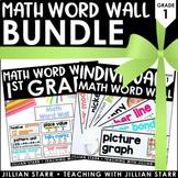 Math Word Wall Bundle 1st Grade