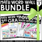Math Word Wall Bundle 3rd Grade