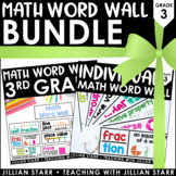 Math Word Wall Bundle 3rd Grade