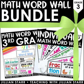 Math Word Wall Bundle: Grade 3