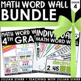 Math Word Wall Bundle 4th Grade