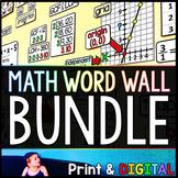 Math Word Wall Bundle - print and digital