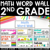 Math Word Wall 2nd Grade (Common Core Aligned)