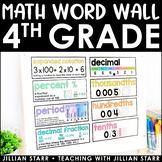 Math Word Wall 4th Grade (Common Core Aligned)