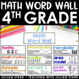 Math Word Wall 4th Grade (Common Core Aligned)