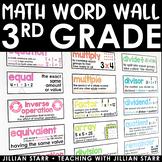 Math Word Wall- Grade 3 (Common Core Aligned)
