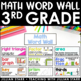 Math Word Wall- Grade 3 (Common Core Aligned)