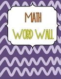 Junior Math Word Wall - Canadian Version