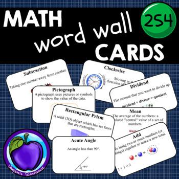 Math Word Wall Cards