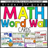 Math Word Wall Cards K-2