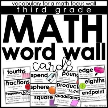Math Word Wall Cards Third Grade