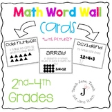 Math Word Wall Cards