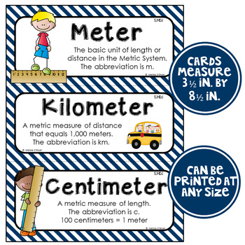 Math Word Wall Cards (5th Grade - Nautical)