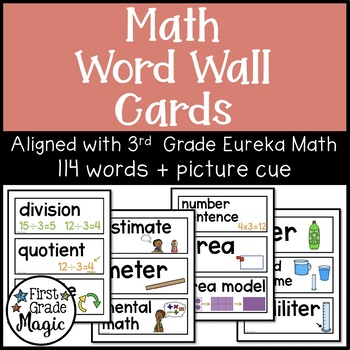 Math Word Wall Cards - Aligned with Eureka Math