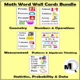 Math Word Wall Bundle - Grades 3 - 5 - Math Vocabulary