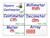 Math Word Wall Cards Measurement (Product 1 of 2)