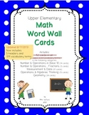 Math Word Wall Cards (Upper Elementary)