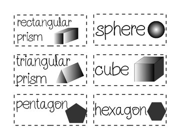 Math Word Wall Cards for Primary